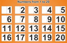 Free Printable Poster With Numbers From 1 To 20 – Free Printables – Free Printable Number Posters