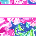 Free Printable Preppy Lilly Pulitzer Binder Covers | College Student   Free Printable School Binder Covers
