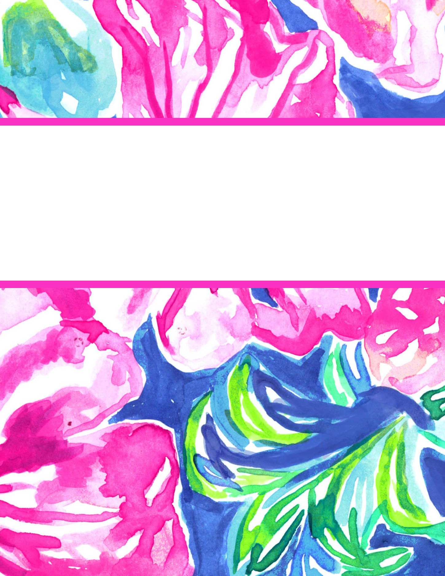 Free Printable Preppy Lilly Pulitzer Binder Covers   College Student - Free Printable School Binder Covers