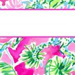 Free Printable Preppy Lilly Pulitzer Binder Covers   Free Printable School Binder Covers