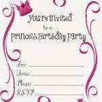 Free Printable Princess Birthday Party Invitations #freeprintables   Free Princess Printable Invitations