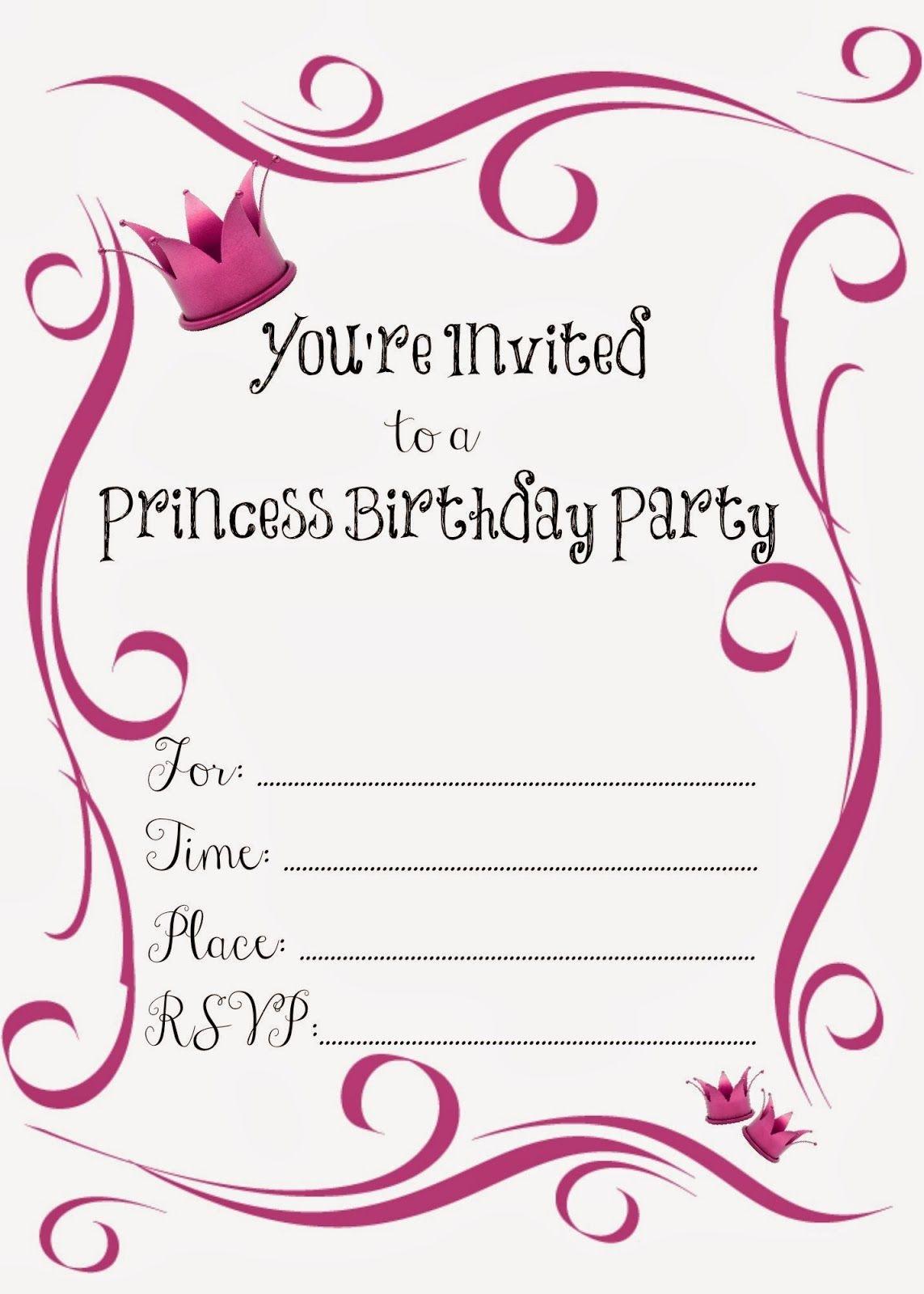 Free Printable Princess Birthday Party Invitations | Printables - Free Printable Princess Invitations