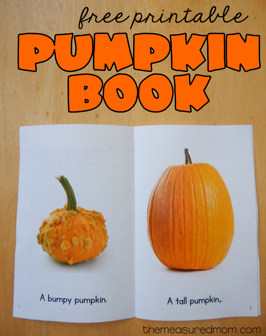Free Printable Pumpkin Book - The Measured Mom - Free Printable Pumpkin Books