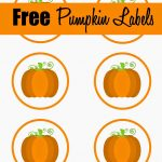 Free Printable Pumpkin Labels/cupcake Toppers | Craft Ideas/diy In   Free Printable Pumpkin Gift Tags