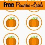 Free Printable Pumpkin Labels/cupcake Toppers | Craft Ideas/diy In   Free Printable Pumpkin Gift Tags