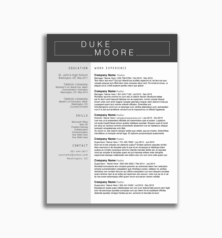 Free Printable Resume Templates Microsoft Word Sample 51 New S Free - Free Printable Resume Templates Microsoft Word