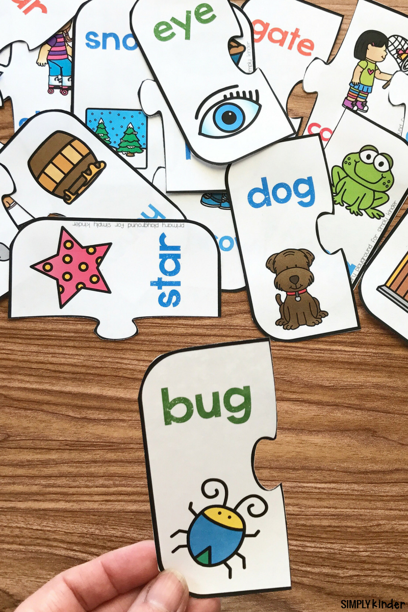 Free Printable Rhyming Puzzles | Rhyming | Phonemic Awareness - Free Printable Rhyming Activities For Kindergarten