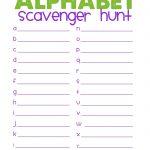 Free Printable Scavenger Hunt | Alphabet Scavenger Hunt | Best   Free Printable Scavenger Hunt