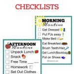 Free Printable School Routine Checklists | Printables | School   Get Out Of Homework Free Pass Printable