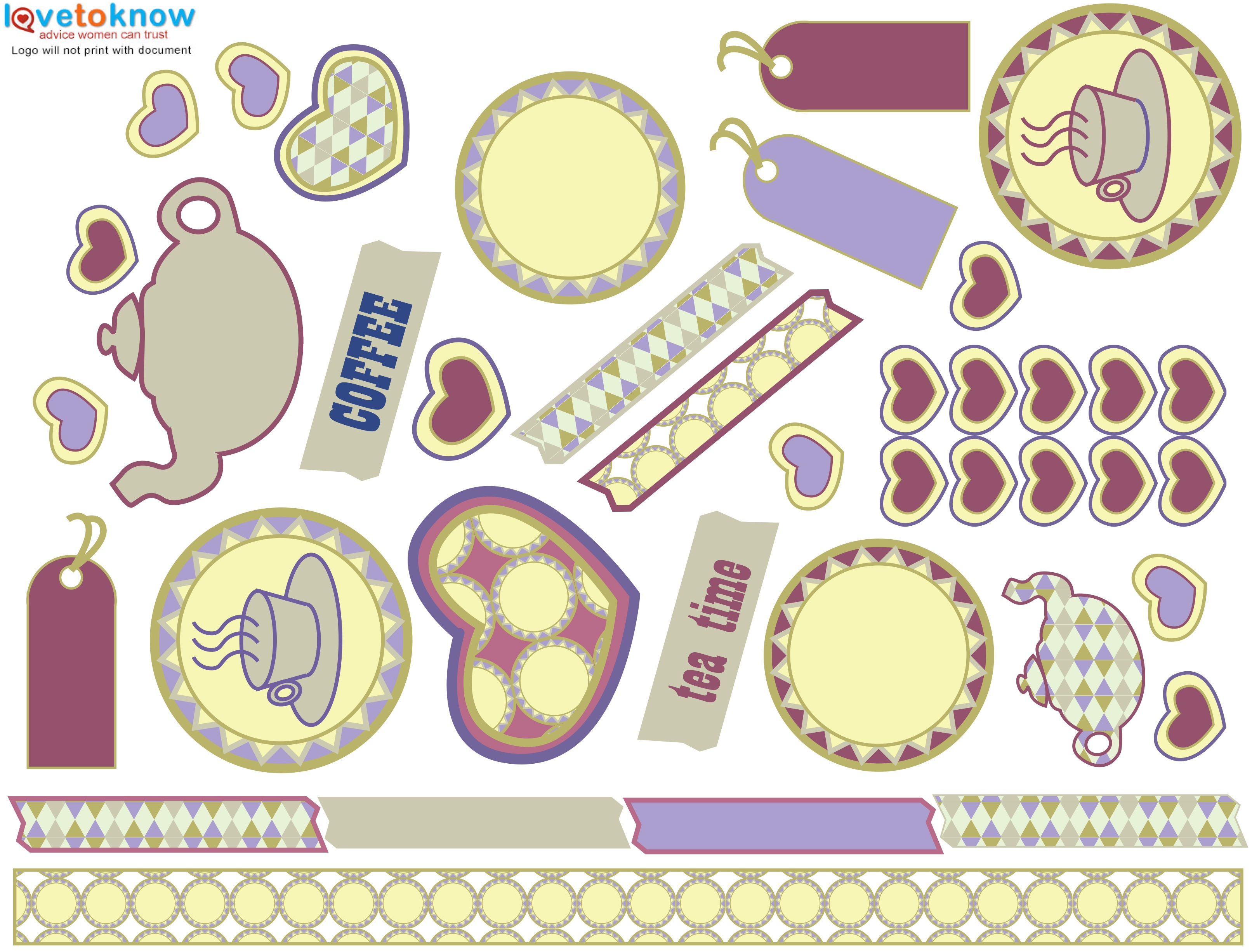 Free Printable Scrapbooking Stuff | Lovetoknow - Free Printable Scrapbook Decorations
