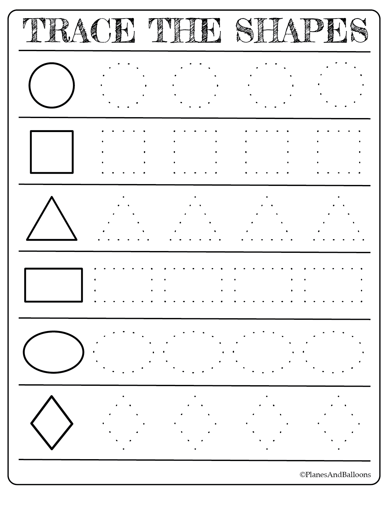Free Printable Shapes Worksheets For Toddlers And Preschoolers - Free Printable Shapes Worksheets