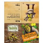 Free Printable Shrek Birthday Party: Invitation, Game, Party Hat   Free Printable Shrek Birthday Invitations
