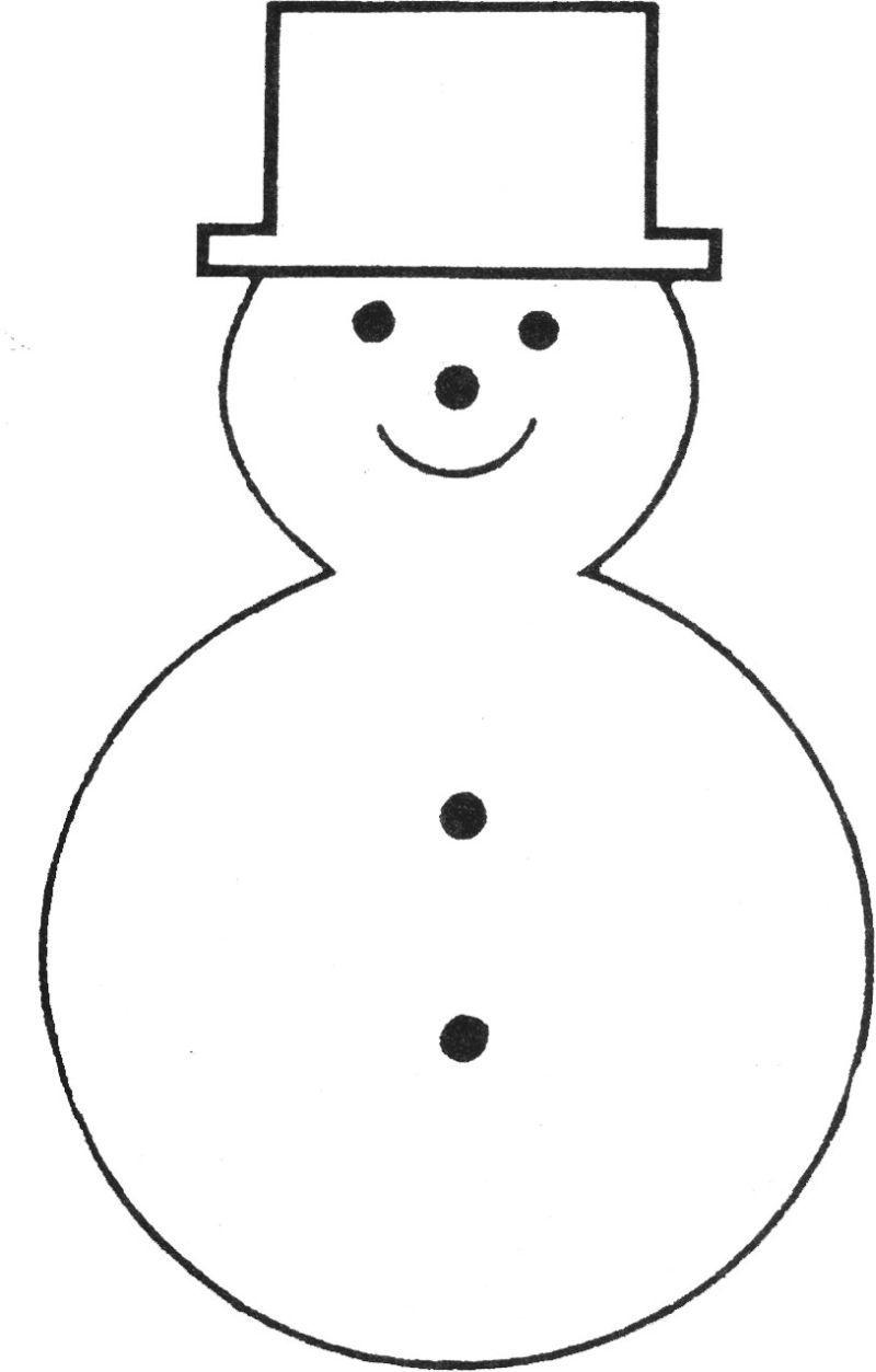 Free Printable Snowman Template | Teaching Ideas | Felt Christmas - Free Printable Snowman Hat Templates