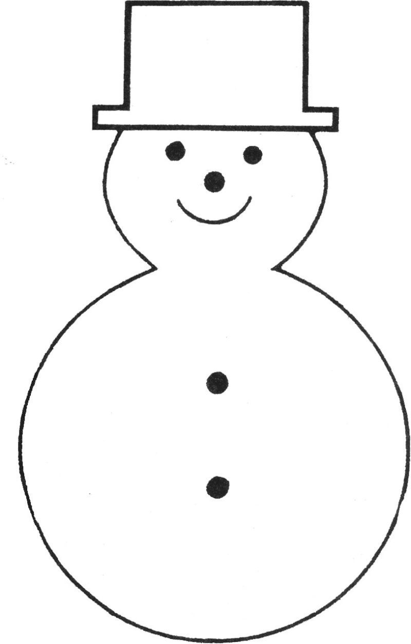 Free Printable Snowman Template | Teaching Ideas | Felt Christmas - Free Printable Snowman Patterns