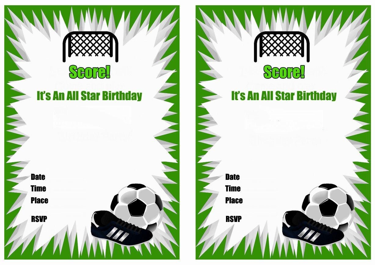 Free Printable Soccer Birthday Party Invitations | Birthday Party - Free Printable Soccer Birthday Invitations