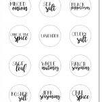 Free Printable Spice Jar Labels | Kitchen Diy | Spice Jar Labels   Free Printable Spice Labels