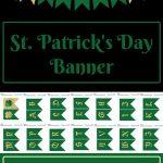 Free Printable St Patrick's Day Banner | Saint Patrick's Day Ideas   Free Printable St Patrick's Day Banner
