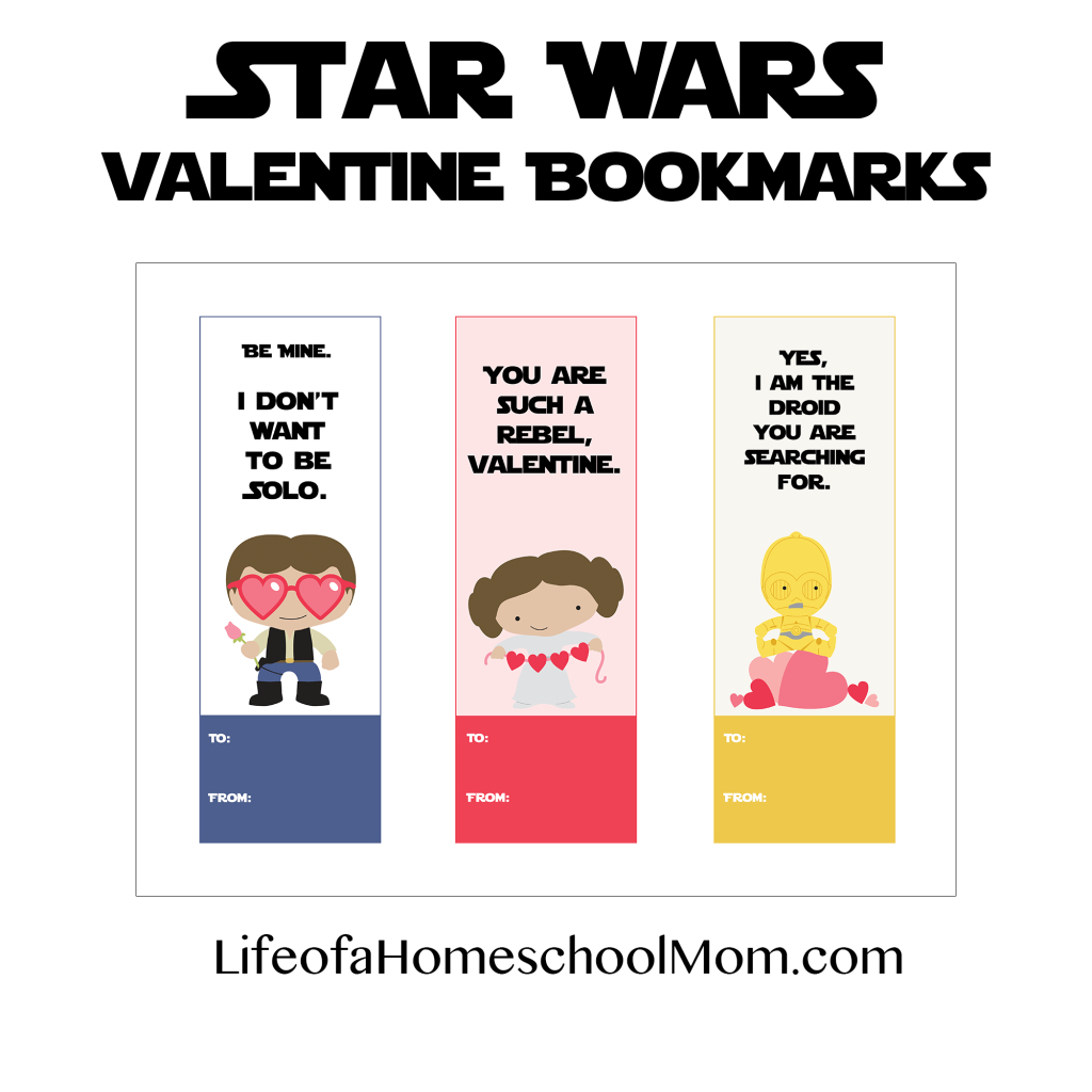 Free Printable Star Wars Valentine Bookmarks - Life Of A Homeschool Mom - Free Printable Lego Star Wars Valentines