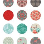 Free Printable Stickers Floral Labels | Printable Stickers | Free   Free Printable Cabochon Templates
