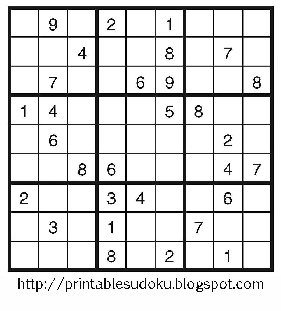 Free Printable Sudoku Pdf – Orek - Free Printable Sudoku Pdf