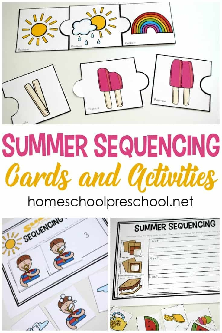 Free Printable Summer Sequencing Cards For Preschoolers - Free Printable Sequencing Cards For Preschool