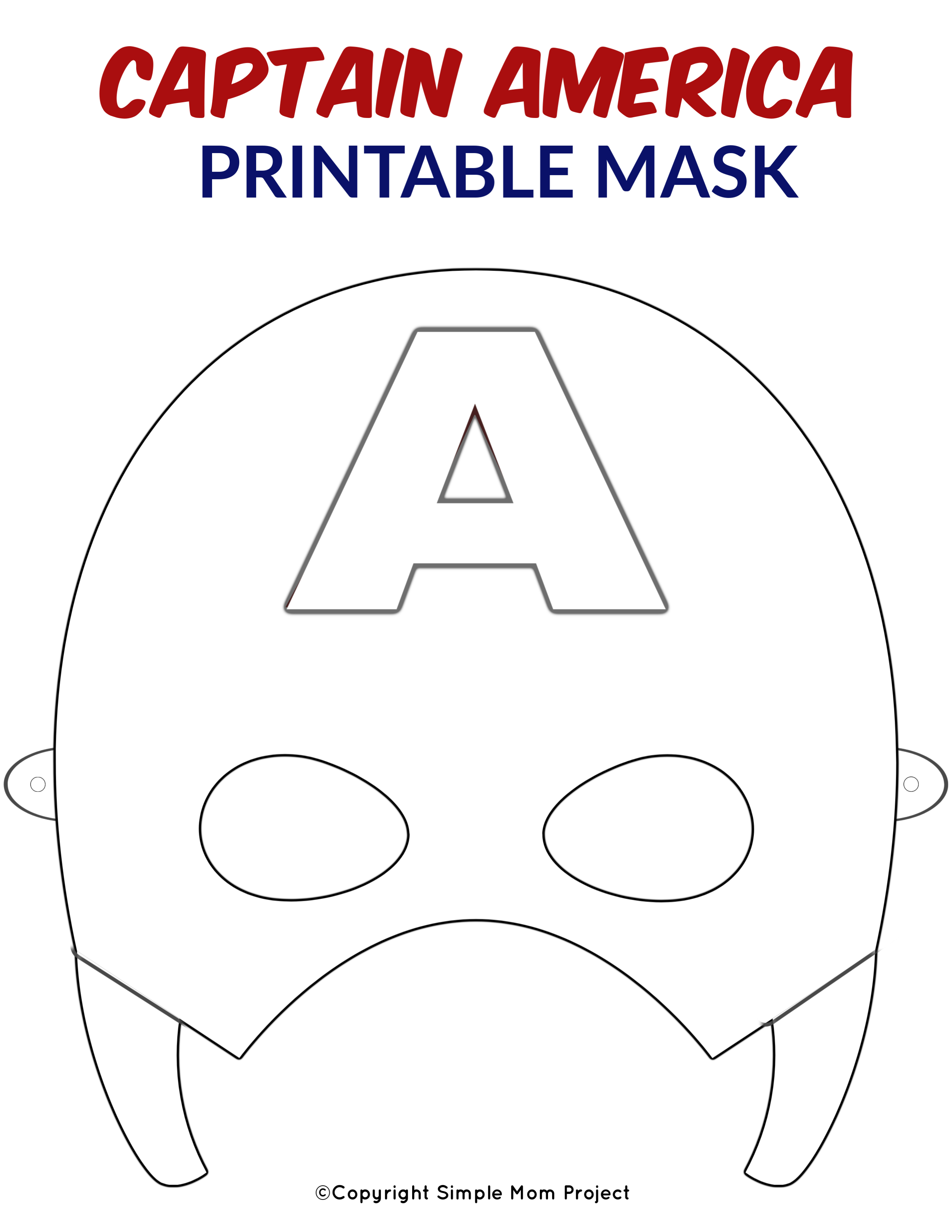 Free Printable Superhero Face Masks For Kids - Simple Mom Project - Free Printable Face Masks