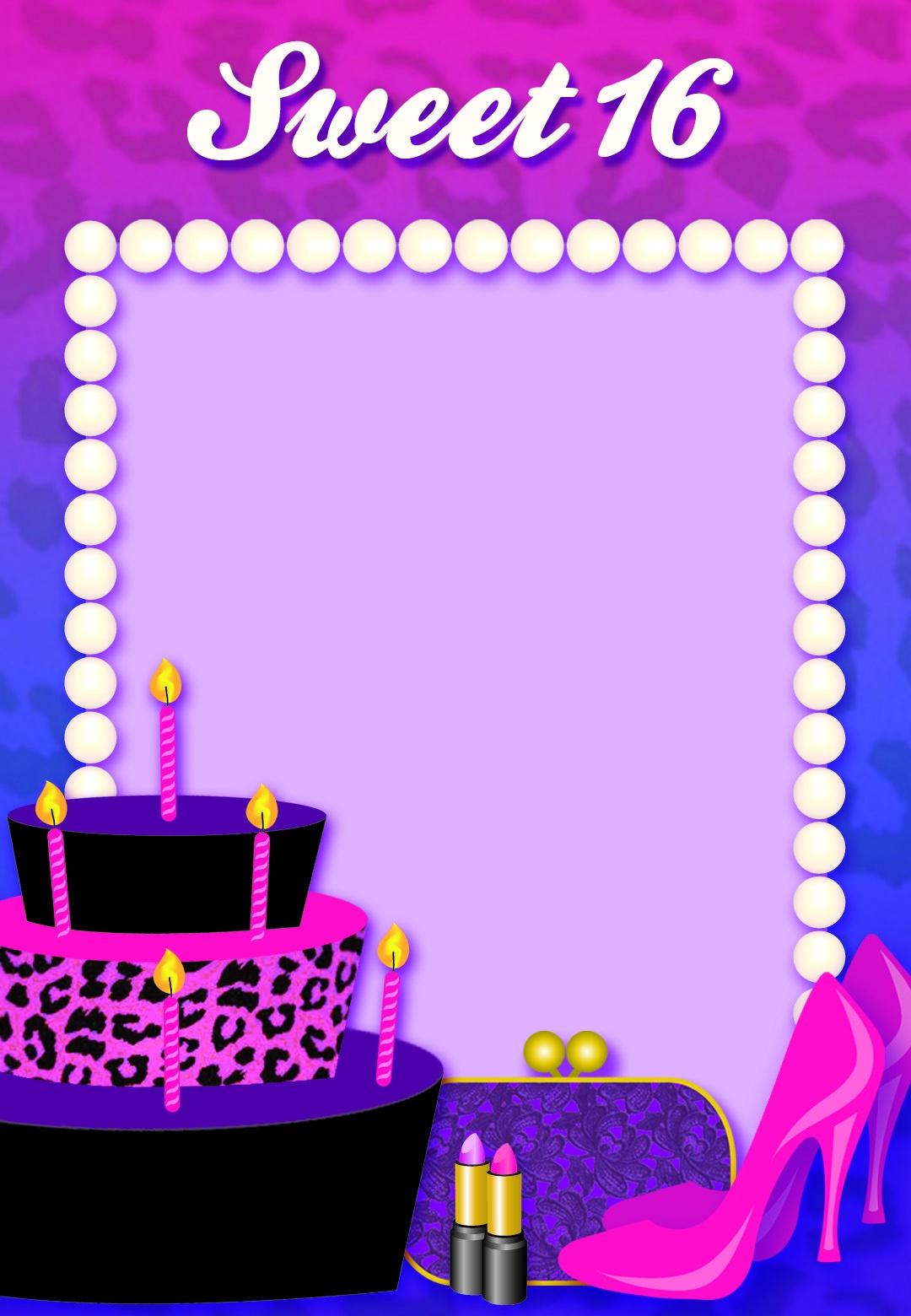 Free Printable Sweet 16 Birthday Invitation | Birthday | Free - Free Printable 16Th Birthday Party Invitation Templates