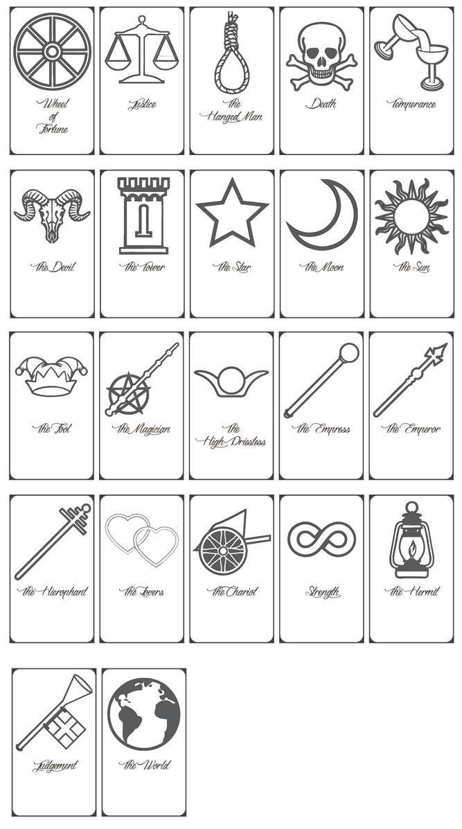 Free Printable Tarot Cards!keniakittykat On Deviantart - Free Printable Tarot Cards