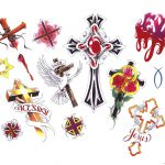 Free Printable Tattoo Flash | Cross Tattoos Designs   Free Cross   Free Printable Cross Tattoo Designs