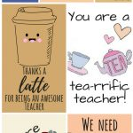 Free Printable Teacher Appreciation Thank You Cards | ✽ Back To   Free Printable Teacher Appreciation Cards To Color