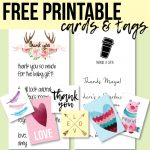Free Printable Thank You Cards And Tags For Favors And Gifts!   Free Printable Thank You Tags For Birthdays