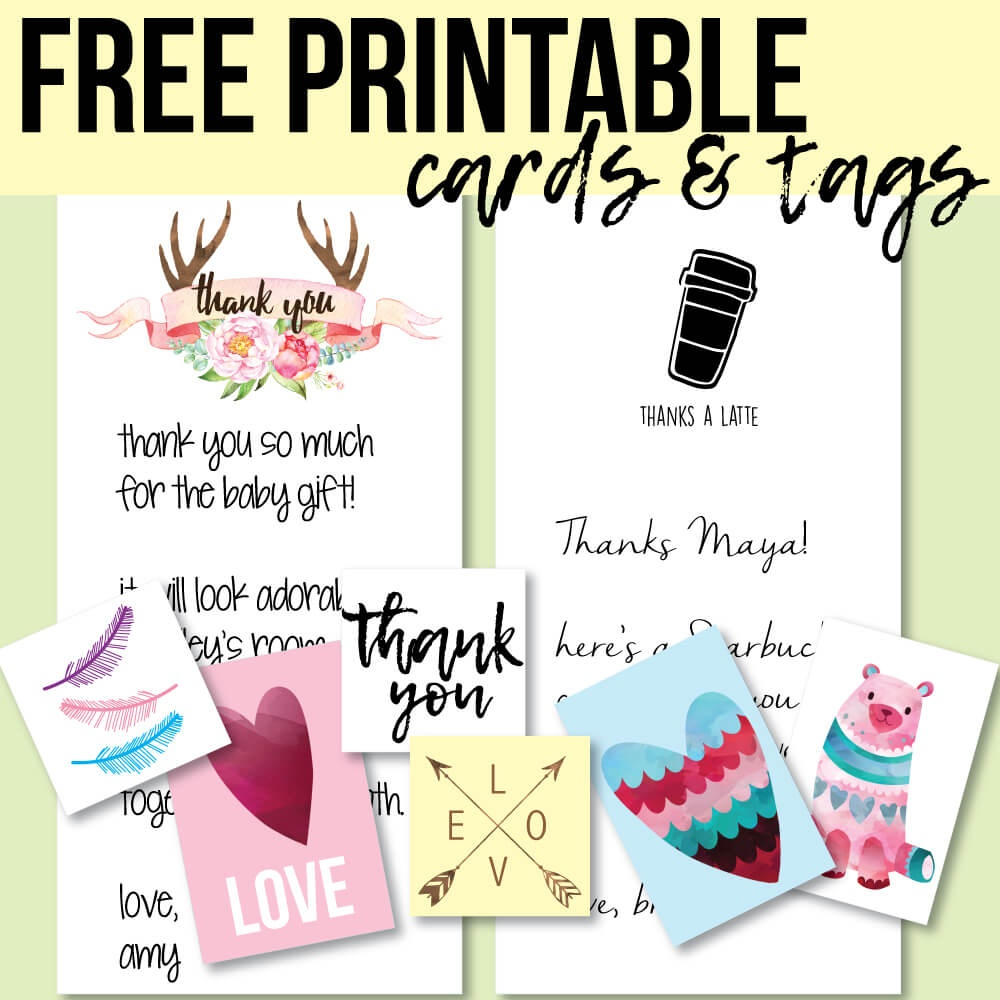 Free Printable Thank You Cards And Tags For Favors And Gifts! - Free Printable Thank You Tags For Birthdays