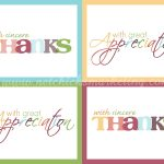 "Free Printable ""thank You"" Cards #thanksgiving #giftofthanks 