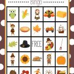 Free Printable Thanksgiving Bingo Game | Craft Time | Thanksgiving   Thanksgiving Games Printable Free