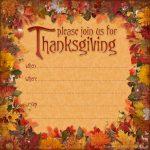 Free Printable Thanksgiving Invitations – Happy Easter   Free Printable Thanksgiving Invitations