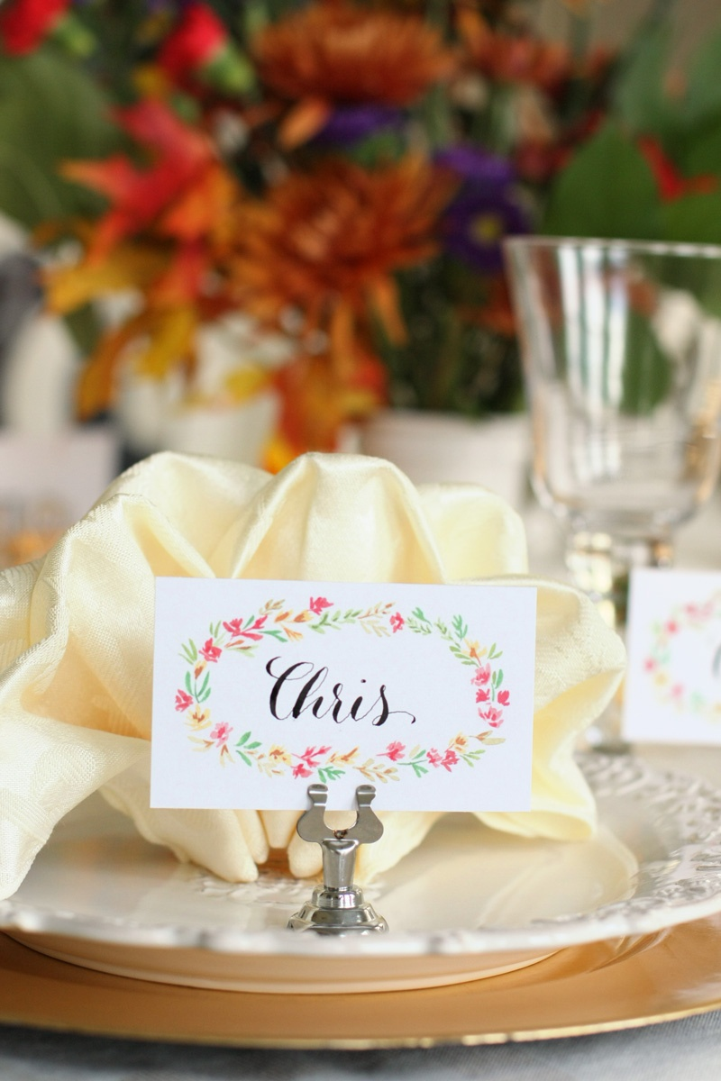Free Printable Thanksgiving Place Cards - Natalie Malan - Free Printable Thanksgiving Place Cards