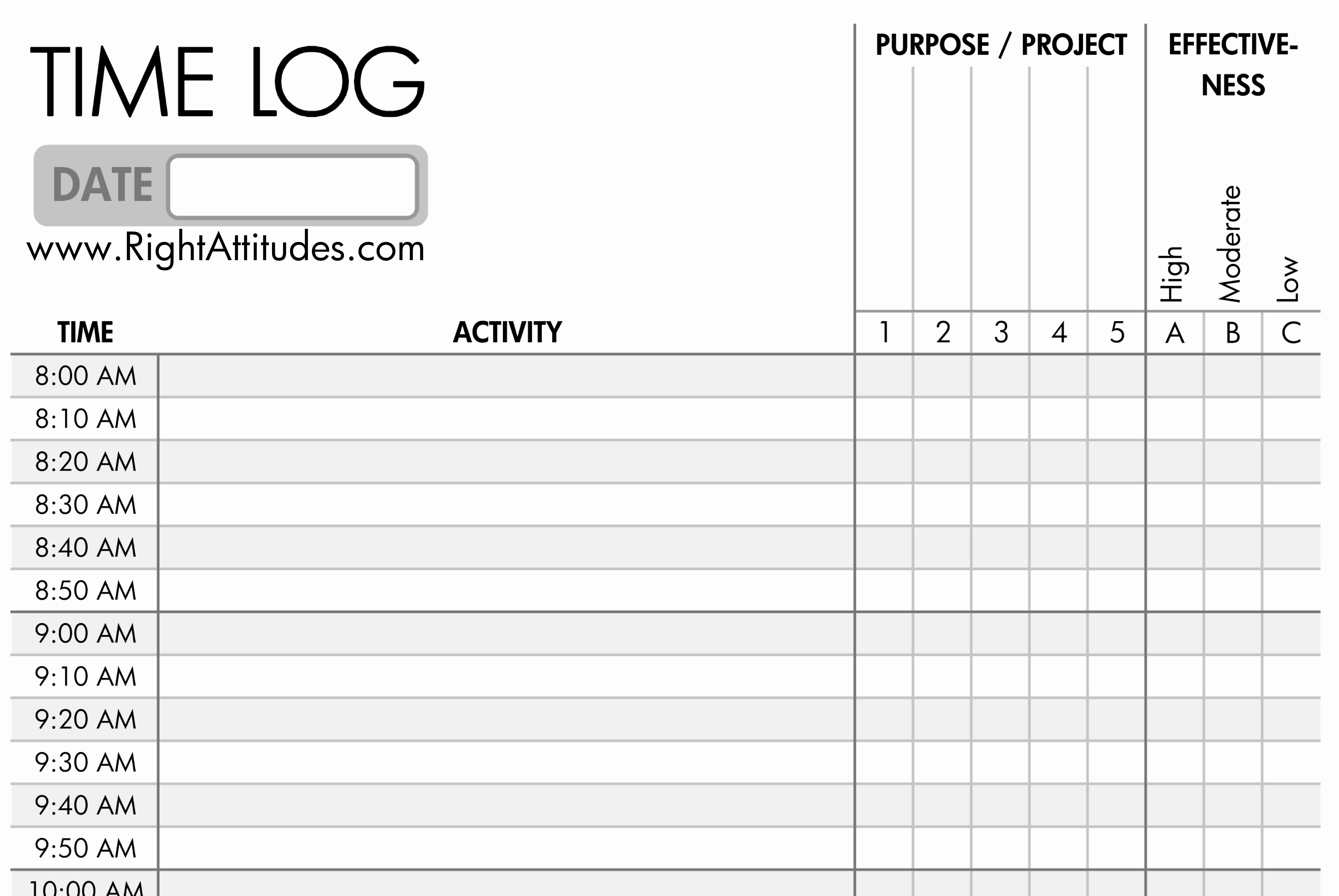 Free Printable Time Tracking Sheets And 8 Best Of Time Tracker Sheet - Free Printable Time Tracking Sheets