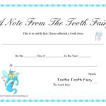 Free Printable Tooth Fairy Letter   Tooth Fairy Certificate   Free Printable Tooth Fairy Certificate