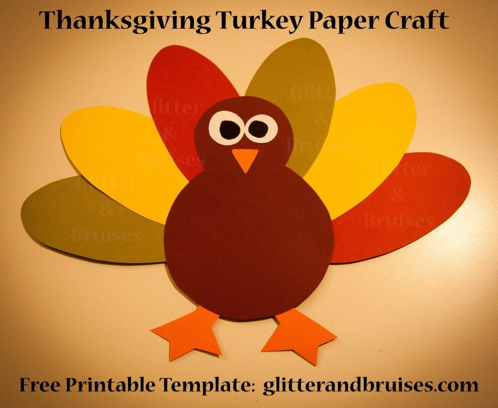 Free Printable Turkey Template Thanksgiving Potluck Templates - Free Printable Thanksgiving Turkey Template