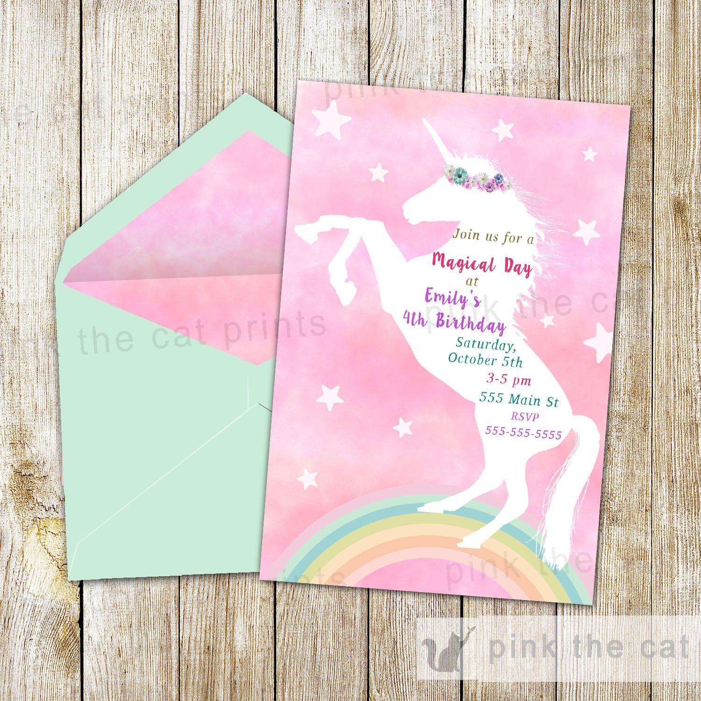 Free Printable Unicorn Invitations | Freebies | Unicorn Invitations - Free Stork Party Invitations Printable