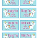 Free Printable Unicorn Party Gift Tag | Birthday Ideas   Free Printable Thank You Tags For Birthdays