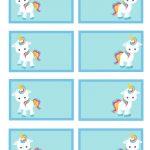 Free Printable Unicorn Party Gift Tag | Kids Gotta Play | Unicorn   Free Printable Gift Name Tags