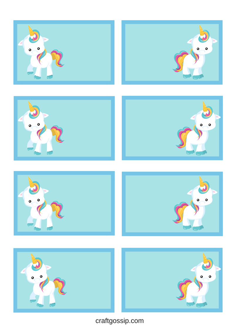 Free Printable Unicorn Party Gift Tag | Kids Gotta Play | Unicorn - Free Printable Gift Name Tags