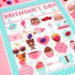 Free Printable Valentine Bingo   Happiness Is Homemade   Free Printable Valentines Day Cards