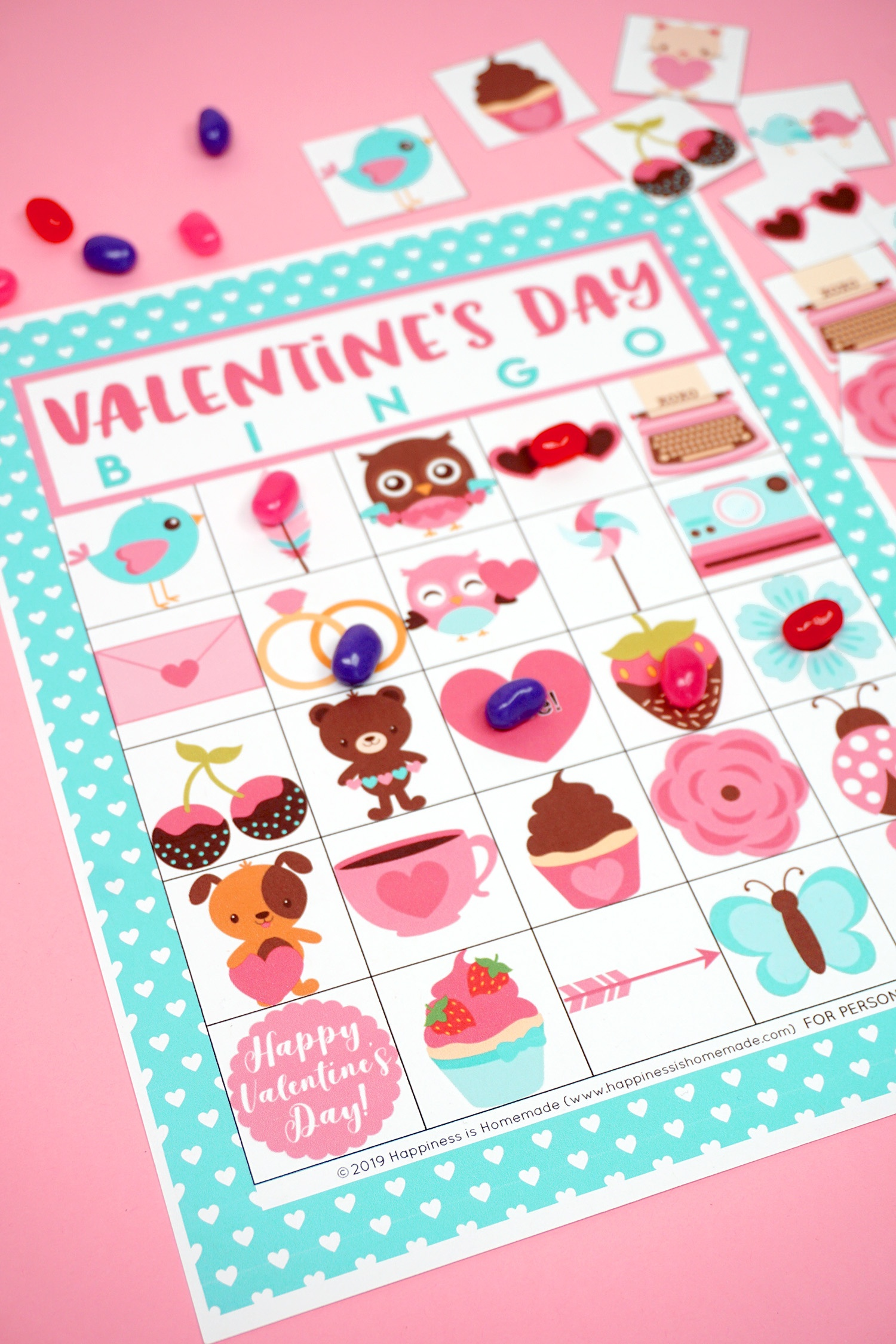 Free Printable Valentine Bingo - Happiness Is Homemade - Free Printable Valentines Day Cards
