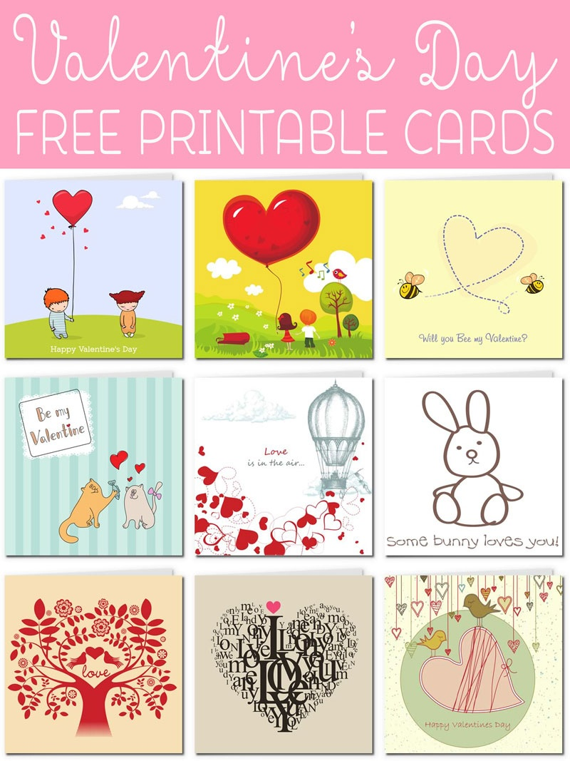 Free Printable Valentine Cards - Free Printable Valentines Day Cards