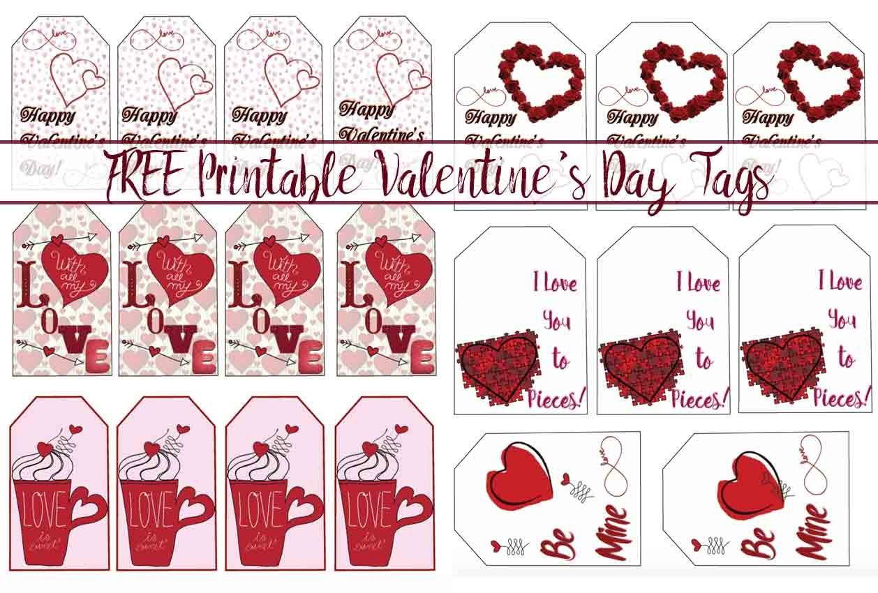 Free Printable Valentine's Day Gift Tags: Multiple Designs & Sizes - Free Printable Valentines Day Tags