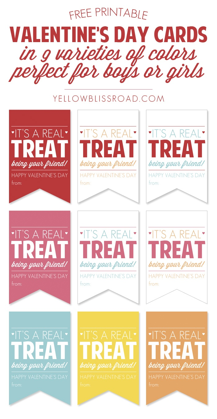 Free Printable Valentine's Treat Tags - Yellow Bliss Road - Free Printable Valentine Tags