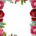 Free Printable Vintage Rose Stationery   Ausdruckbares Briefpapier   Free Printable Roses