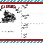 Free Printable Vintage Train Ticket Invitation | Free Printable   Free Printable Ticket Invitation Templates